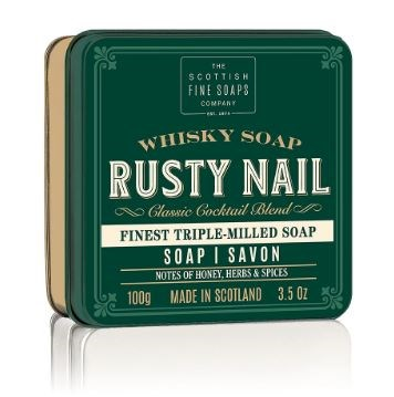 Soap in a Tin Whisky Cocktail Rusty Nail